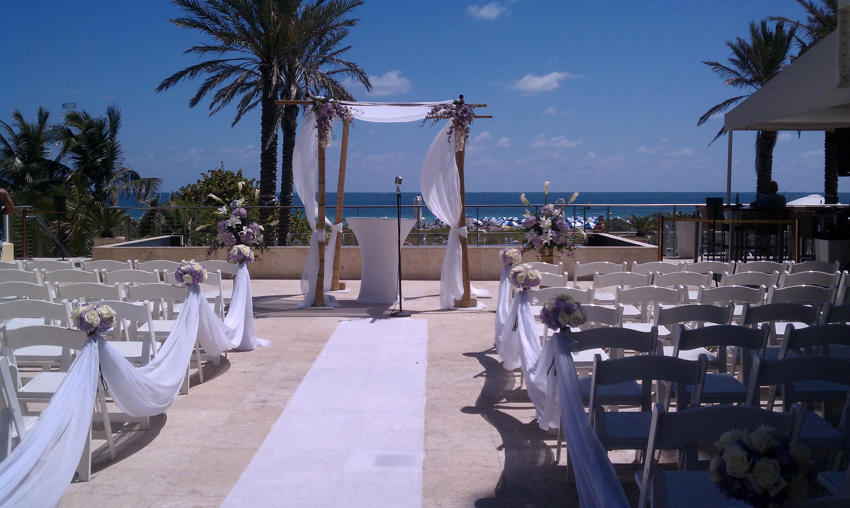South beach weddings hasel b designs for Beach weddings in ny